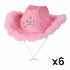 2830b3e44b168 item 2 Pack Of 6 Cowboy Hat Pink Feather Cowgirl Hen Night Fancy Dress  Party Halloween -Pack Of 6 Cowboy Hat Pink Feather Cowgirl Hen Night Fancy  Dress ...