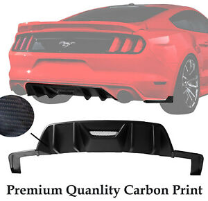 Fits 15-17 Ford Mustang HN HPE700//750 Rear Bumper Lip Diffuser-Matte Black