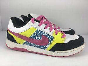 900123fd7988 Nike 6.0 Skater Girls Kids Size 6 Y White Pink Yellow Athletic Shoes ...