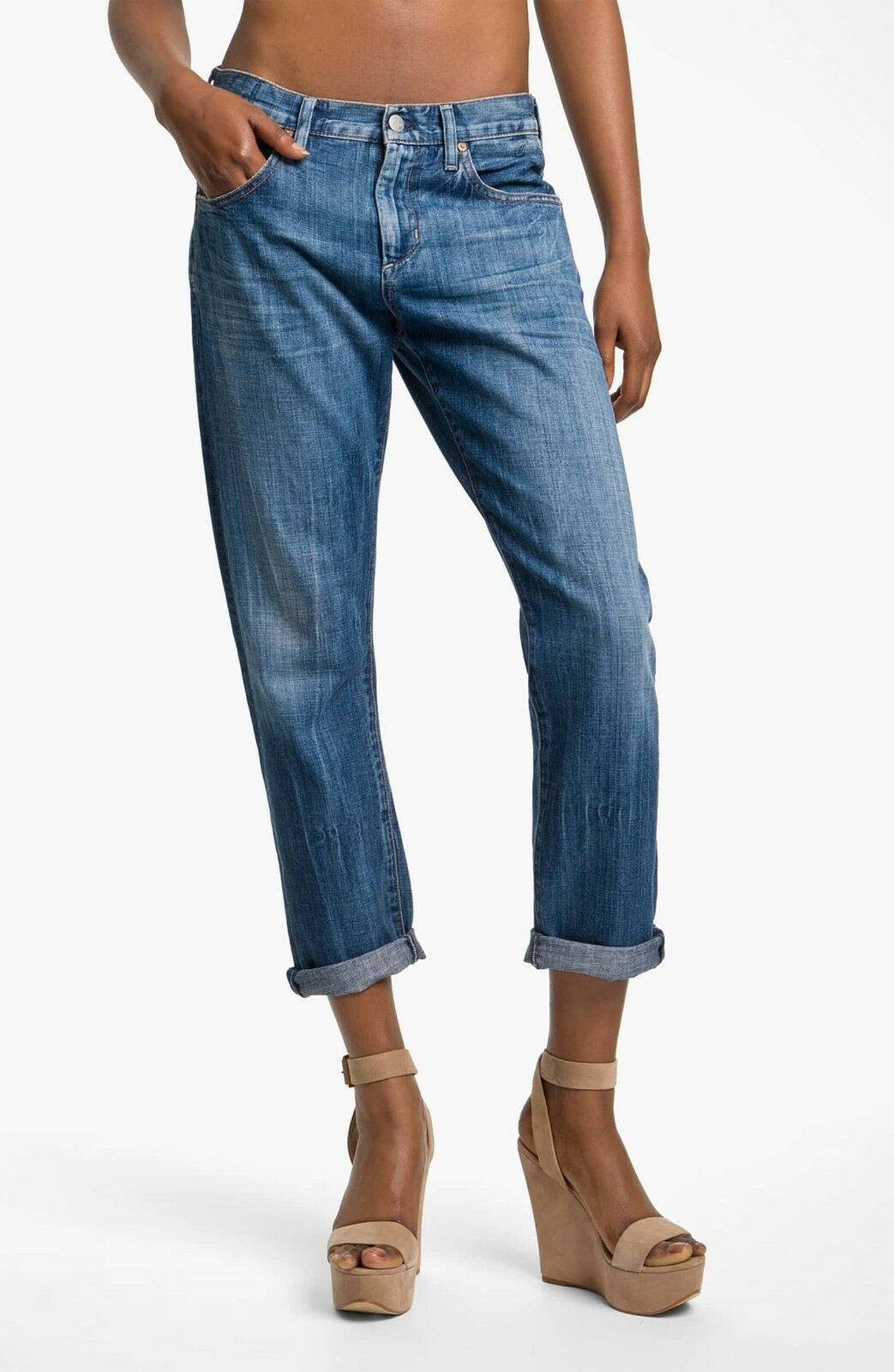 NWT  Citizens of Humanity Daisy' Crop Loose Fit Jeans [ SZ 25 ]  E337