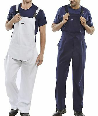Mutig New Mens Bib And Clipped Brace Pre Shrunk Cotton Drill Work Uniform Overalls