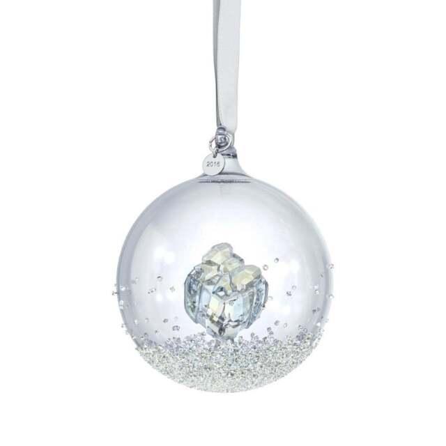 Swarovski Christmas Ornament CHRISTMAS BALL 2016 Gift Large #5221221 New - Swarovski Crystal Christmas Ball Ornament Annual Edition 2016