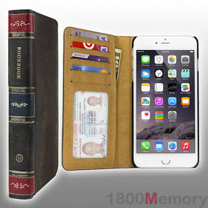 newest 71750 45fec Details about GENUINE Twelve South BookBook Brown Wallet Case Leather Book  Apple iPhone 6 Plus