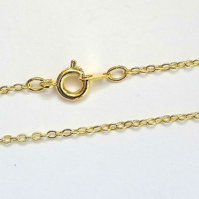 12 Gold Plated Necklace Trace Chains 16/'/' Findings UK Seller