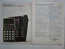 9/1975 PUB HP HEWLETT PACKARD HP-25 SCIENTIFIC CALCULATOR CALCULATRICE AD