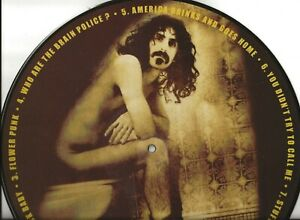 FRANK-ZAPPA-ON-THE-CRAPPER-PICTURE-DISC-LP-HIGH-SCHOOL-PHOTO-ON-THE-BACK