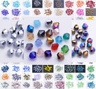 Hot 100pcs 4mm Shiny Faceted Crystal Glass SW 5301# Bicone Loose Spacer Beads
