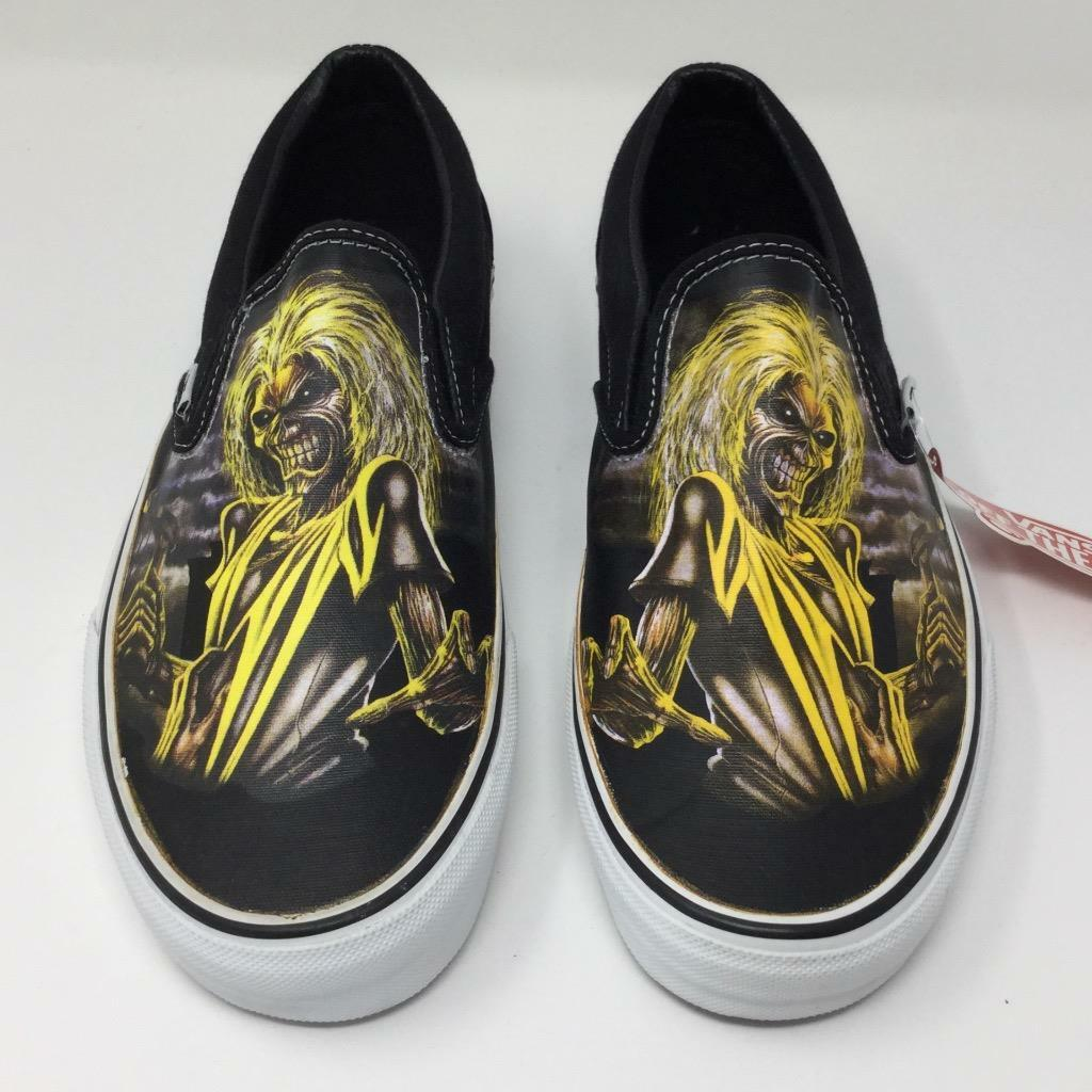 Vans Iron Maiden Killers shoes Sneakers Size Mens 8.5 Women 10 Slip On