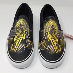 Vans Iron Maiden Killers Shoes Sneakers Size Mens 8.5 Women 10 Slip ... c20accc49