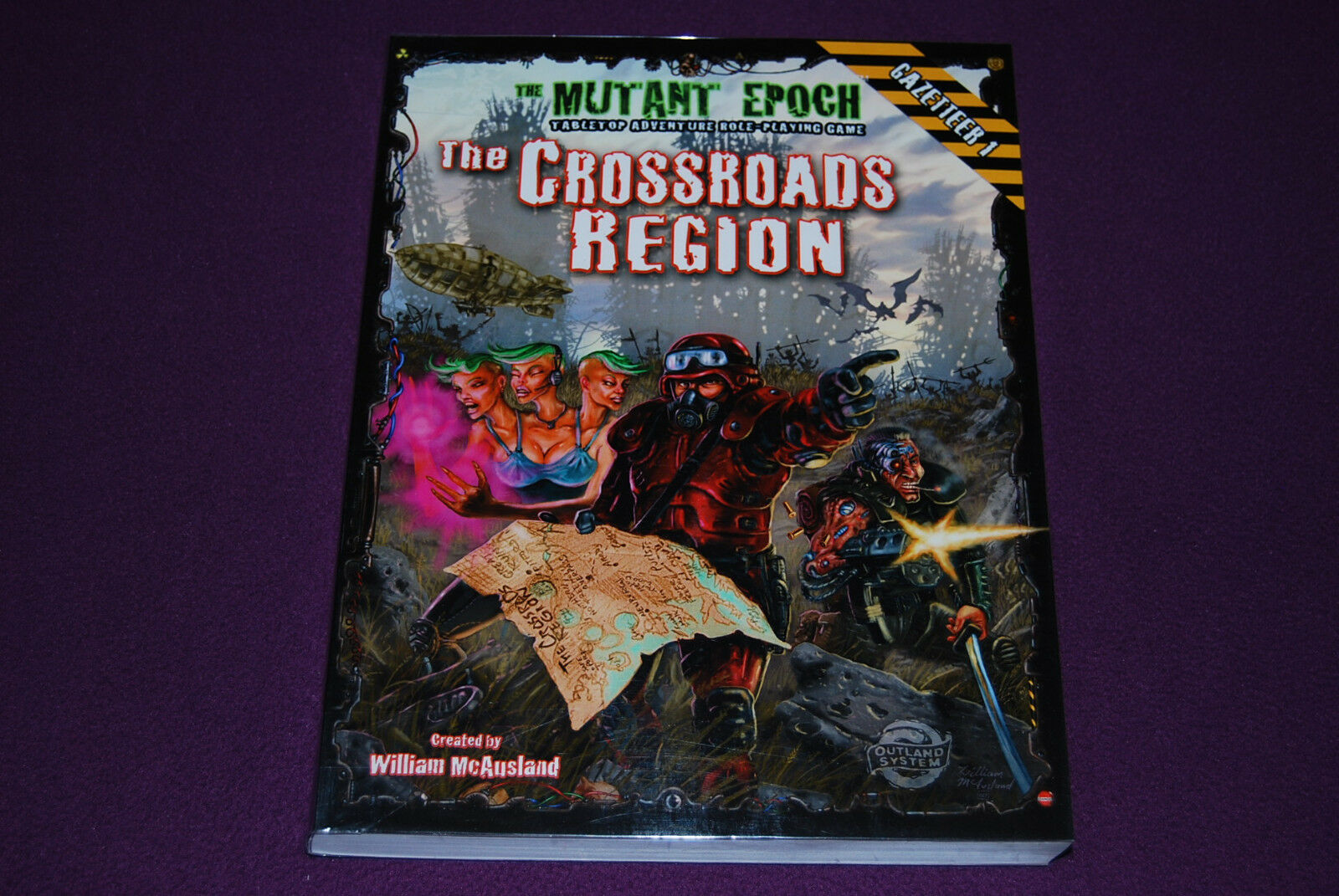THE MUTANT EPOCH Tabletop RPG JDR Jeu de Role - Crossroads Region Gazetteer 1