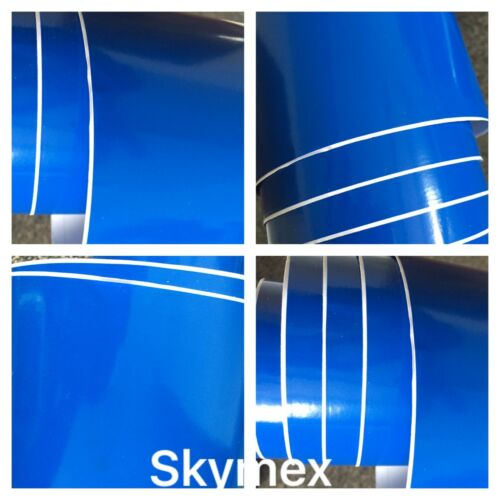 "BLUE GLOSSY Vinyl Wrap Sheet Car Wrapping /""Air Bubble Free/""Vinyl Car Wrapping UK"