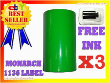 3 Sleeves Green Label For Monarch 1136 Pricing Gun 3 Sleeves24rolls