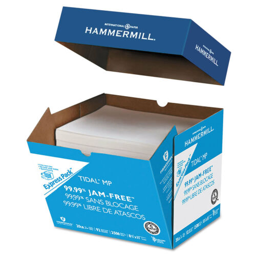 Hammermill Tidal MP Paper Express Pack 92 Brightness 20lb 8-1//2x11 White 2500
