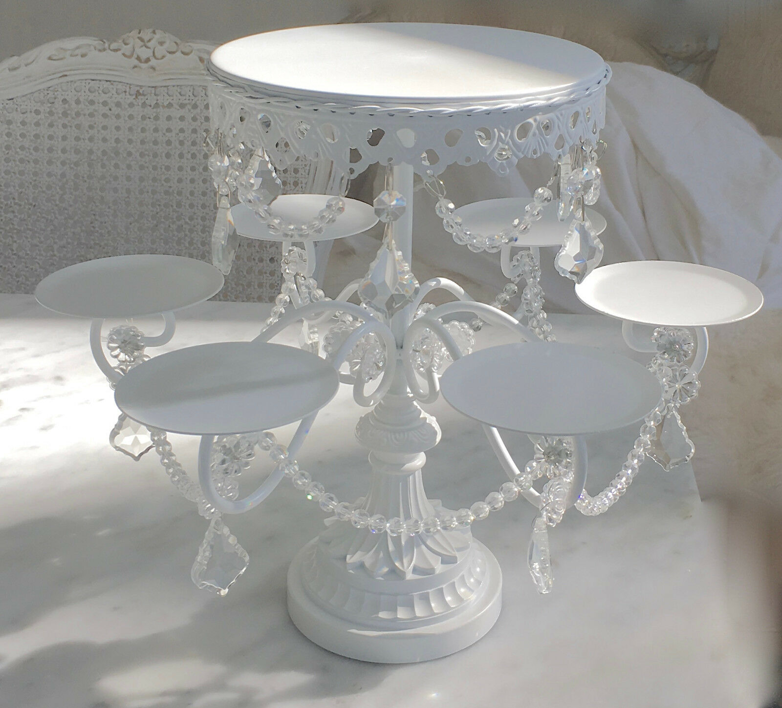 white wedding cake stands shabby prism white chic cupcake wedding birthday 1362