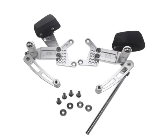 Adjustable Billet Rearsets Silver Honda CBR 900 RR 1994-1999 94-99 FR48