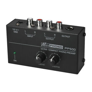 Phono-Preamplifier-Level-amp-Volume-Controls-RCA-Input-Output-US-Plug-110-240V