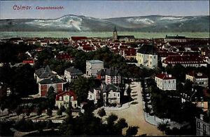 Colmar-Elsass-France-CPA-1910-Gesamtansicht-Panorama-mit-Gebirge-im-Hintergrund