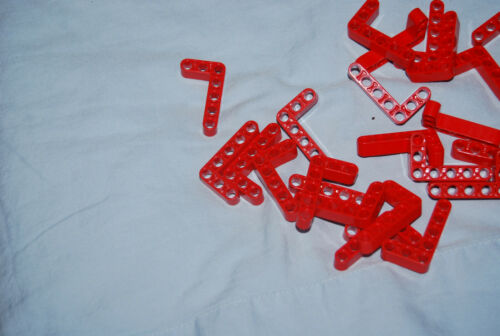 K Lego Lot 25 Red 3 x 5 L Shape Liftarms 32526 42068 8285 8288 8145 8674 8070
