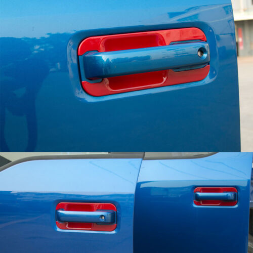 8Pcs ABS Exterior Door Handle Bowl Cover Trim Decor Red For Ford F150 2014-2018