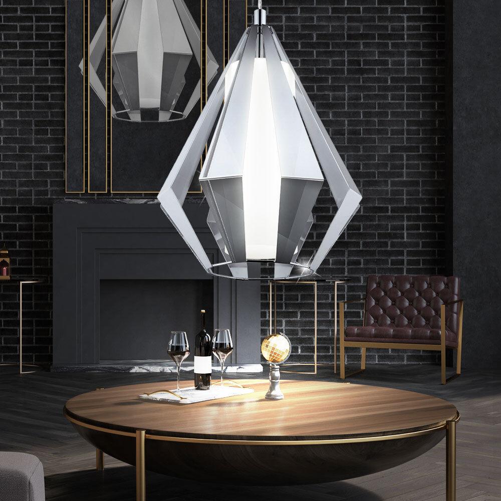 Retro plafond lampe salon pendentif lampe verre spotlight lampe suspendue chrome