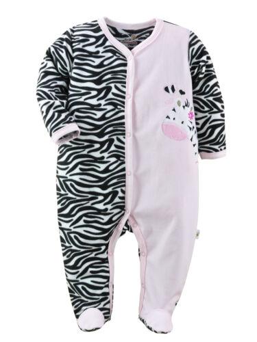 9 months NEW Baby Girl Long Sleeve Sleeper Sleep Striped Zebra 3