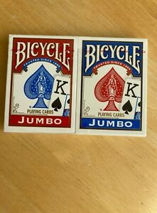 Bicycle-Jumbo-Playing-Cards-Pack-of-2-Decks-Factory-Sealed-Dated-2009