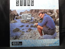 """Sting - Love Is The Seventh Wave (New Mix, mit Poster)    12"""""""