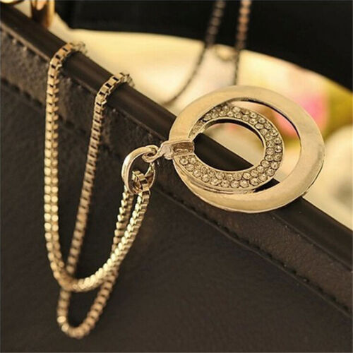 Lady Crystal Rhinestone Silver Plated Long Chain Pendant Necklace Gift CZ