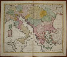 stampa antica old print Danubio Europa Orientale Danube east 1766 homann heirs