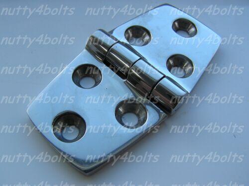 HEAVY DUTY STAINLESS STEEL DOOR HINGE 76mm X 38mm A4-316 MARINE BOAT DOOR HINGE