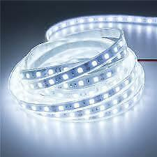 100% Waterproof Cuttable White 5M Roll 3528 SMD LED Strip Light with DC Adapter