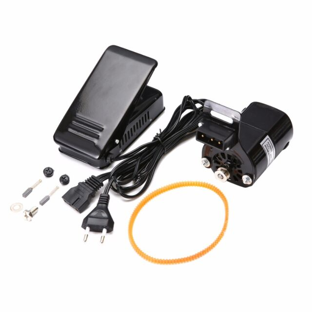 110V DOMESTIC SEWING MACHINE MOTOR UNIVERSAL FITTINGS BELT FOOT CONTROL PEDAL