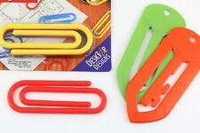 Vtg 80s Super Clips Giant Jumbo Paper Clips Nip Plus Tupperware Clips