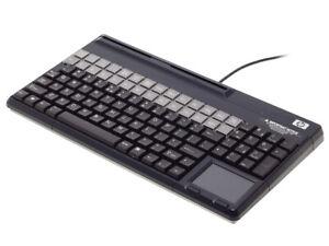 HP-POS-Tastatur-mit-Durchzugsleser-Touchpad-US-Layout