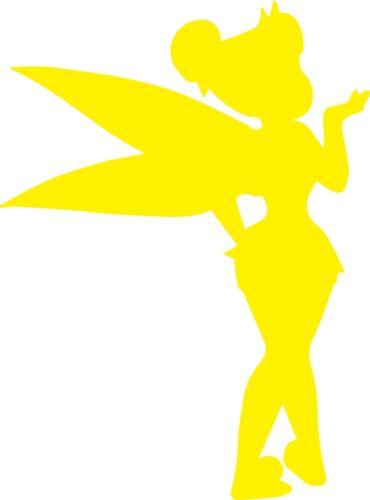 Fenêtre mur Véhicule Peter Pan Tinkerbell Fairy Silhouette Autocollant Vinyle Autocollant C