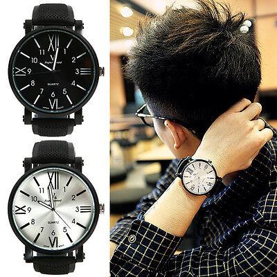 Fashion Mens Boys Casual Sport Quartz Analog  Big Dial Wrist Watch