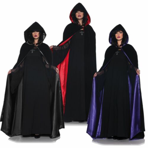 """Multiple Colors Adult Costume Accessory 63/"""" Deluxe Velvet and Satin Cape"""