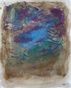 Joseph Iliu (1914-1999) Grande Composition Abstraite Gouache Sur Papier (94)
