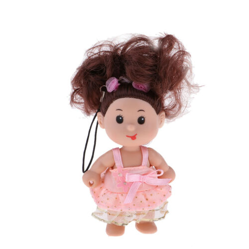 10cm Mini Baby Doll in Dress Key Ring Holder Keychain Bag Pendant Xmas Gift