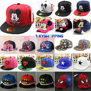 Kids Boys Girls Cartoon Sports Baseball Cap Hip Hop Snapback Sun Hat ... f41895c08da3