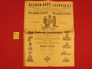 Realistisch Der Große Vorteil Kupferrohr-verbindungen Alfred Rost 1928 Ungleiche Leistung Sonstige Antiquitäten & Kunst