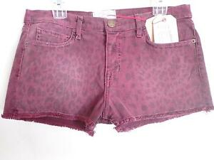 Shorts Leopard Boyfriend Nuovo taglia Current Fig 27 Stampa Elliott 884926623365 wIqEf