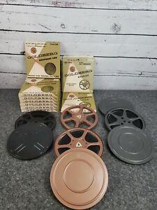 Goldberg-Dustproof-Cans-400-Foot-8mm-Super-8mm-Film-Tape-Plus-Bonus-Bundle-Reels