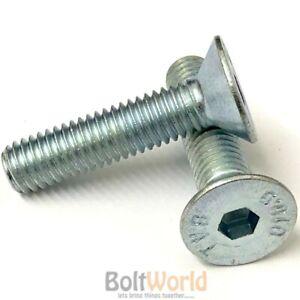 M6 x 20 Black 10.9 Grade High Tensile Hex Socket Countersunk screws Self Colour Allen Bolts DIN 7991-100 Pack Bolt Base 6mm