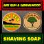 Bay-Rum-amp-Sandalwood-Mix-Pack-Shaving-Soap-2-Pieces-Set-For-Men-100-Handmade thumbnail 1
