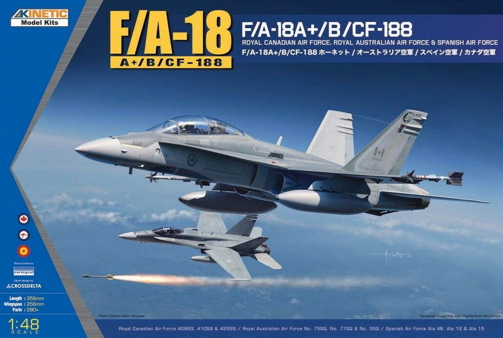 Kinetic Models 1 48 McDonnell-Douglas F A-18A+ B CF-188 with RAAF Decals