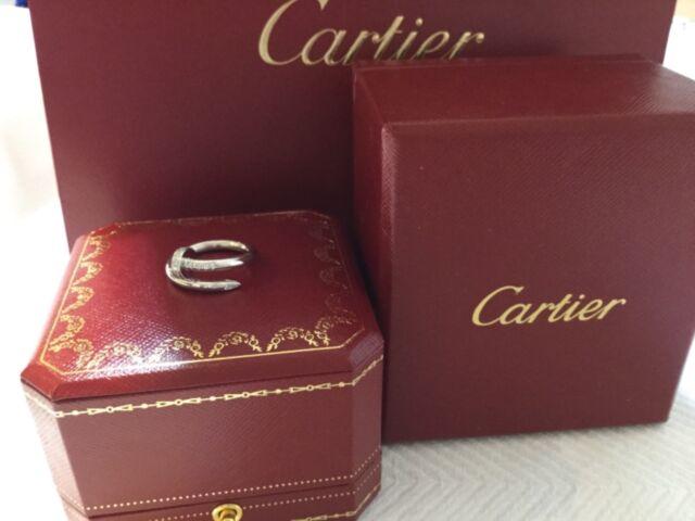 04c469e407ff1 Cartier Juste Un Clou 18k White Gold Diamond Nail Ring