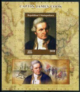 Madagascar 2018 MNH Captain James Cook 1v M/S Exploration Boat Ships Stamps