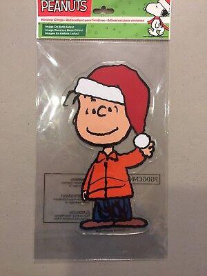 Peanuts Christmas Play Jelz Window Clings Snoopy Charlie Brown Linus NEW!