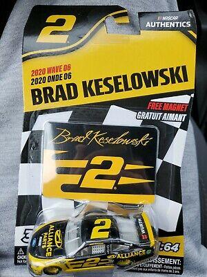 2020 Nascar Authentics Wave 1 Brad Keselowski #2 PPG Alliance Parts 1//87 2pk.